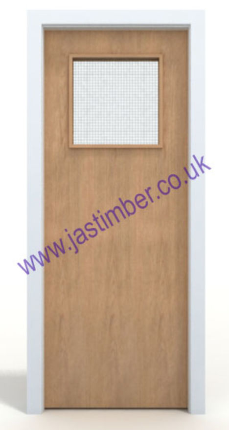 Maple Glazed FD30 Fire Door - 1G VP