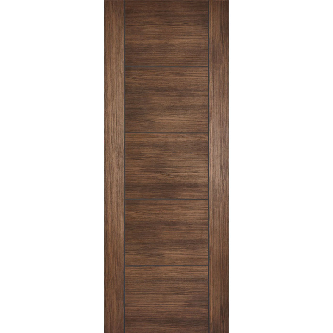Vancouver Laminated V-Groove 35mm Walnut Door