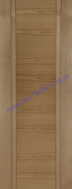 CAPRI Oak Fire Door - Double-V-groove Oak Pre-Finished FD30 (Half Hour) 44mm - Mendes Doors