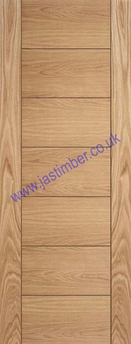 CORSICA Oak Fire Door - V-groove Oak Pre-Finished FD30 (Half Hour) 44mm - Mendes Doors