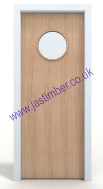 Ash Glazed VP FD60 Fire Door - One-Hour 54mm Internal Premdor® with Vision Panel Glazed to Order