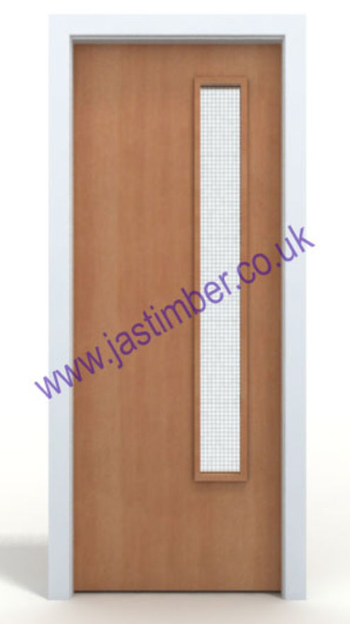 Beech 20G Vision Panel Glazed FD30 Fire Door