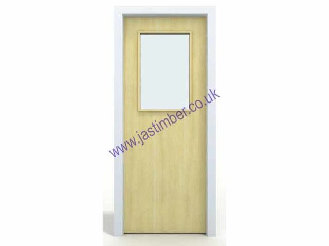 Glazed VP FD60 Fire Door - One-Hour 54mm Internal unfinished Paint-Grade Premdor® FireMaster FD60 with Vision Panel GtO