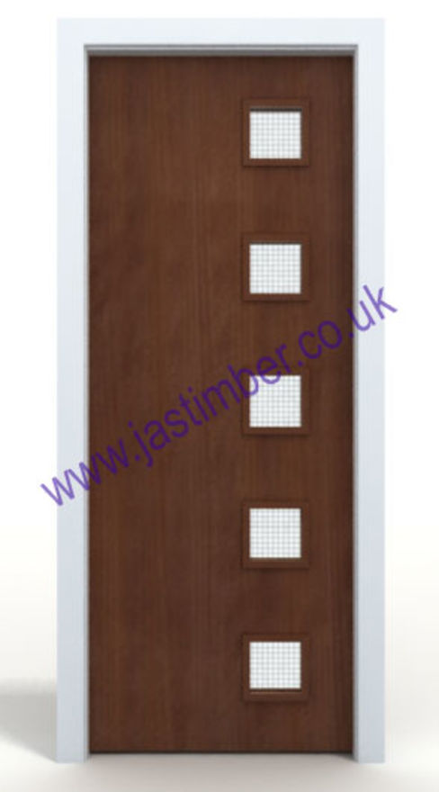 Sapele 10G Glazed VP FD30 Fire Door