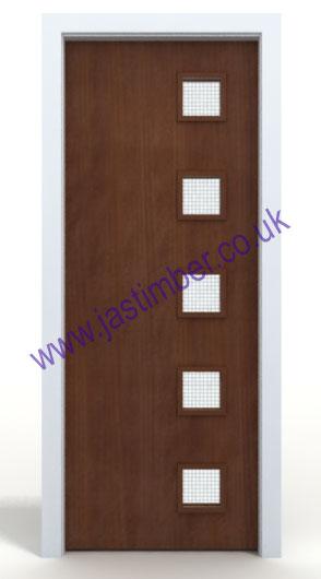 Premdor Glazed Vp Sapele Fd30 Fire Door