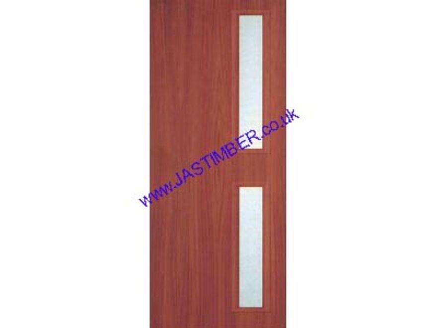 ... Sapele-DDU-Glazed-Fire-Door ...  sc 1 st  JAS Timber & Premdor FD60 Sapele 1-Hour VP Fire Door