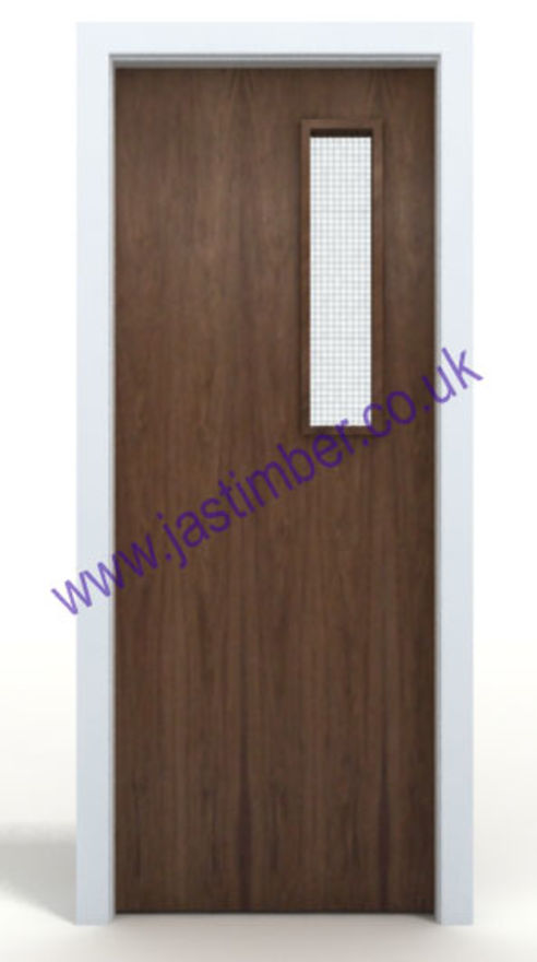 Walnut FD30 Half-Hour Fire Door