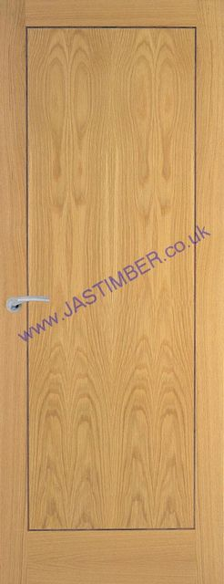 Innova Oak Fire Door: FD30 Fireshield 44mm Internal 30min. Firecheck Door - PF Oak inlaid with Bubinga Veneer - Premdor