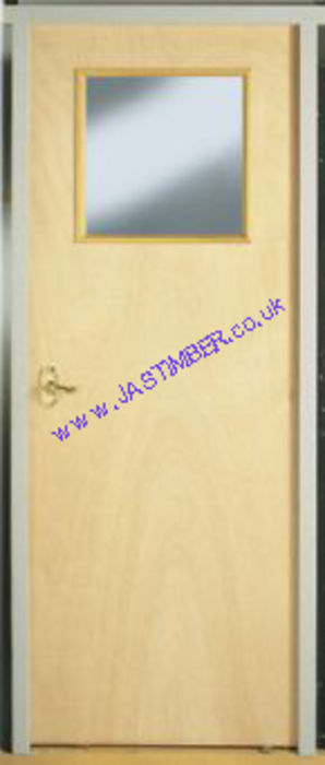 Plywood VP Vision Panel Fire Door - Premdor