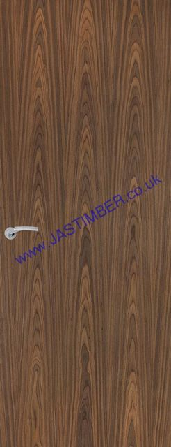 Walnut Veneer-Match Fire Door - Fireshield FD30 44mm Internal Firecheck - Walnut colour Real-Veneer - Premdor Fire Doors