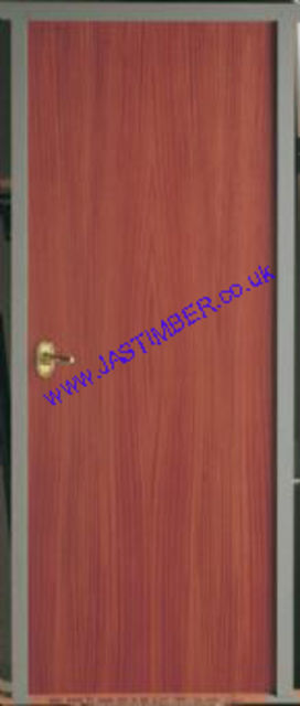 Sapele FD30 Flush Fire Door - 44mm Prefinished Sapele-Veneer Internal Half-Hour Firecheck - Select Size and Options from Menu