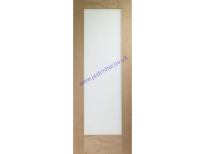 Pattern 10 Clear Glazed Oak Fire Door - XL Doors
