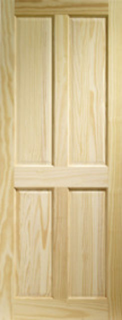 VICTORIAN FIRE DOOR: FD30 4-Panel Clear Pine 44mm Internal Fire Door - XL Doors