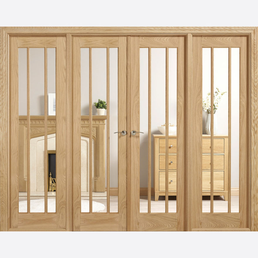 W8 Lincoln Glazed Oak Room Dividers