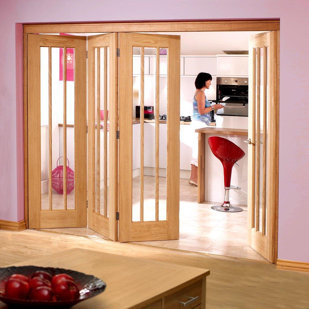 LPD NUVU Oak Folding Internal Doorsets