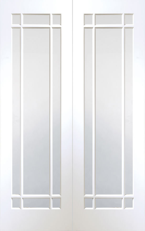 Cheshire Glazed White Primed Pair Doors