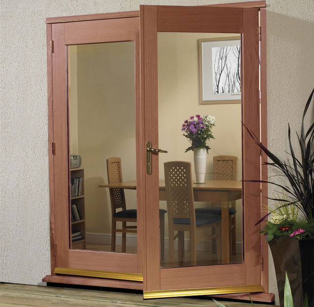 LA PORTE FRENCH DOORS: Hardwood (unfinished) 2-light *Glazed* Pattern 20 French Door - XL Doors