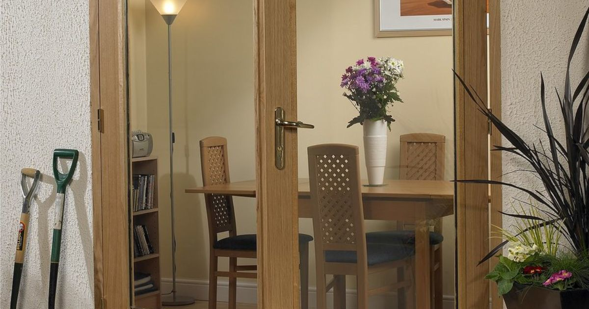 La porte oak external french pair doors for Porte in french