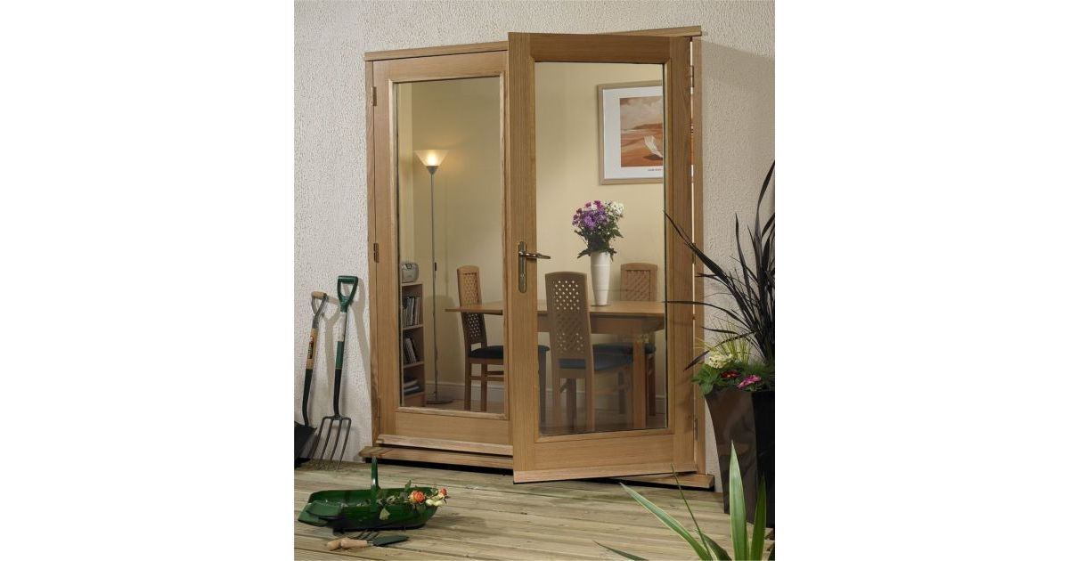 Xl la porte oak external french doors for Porte french