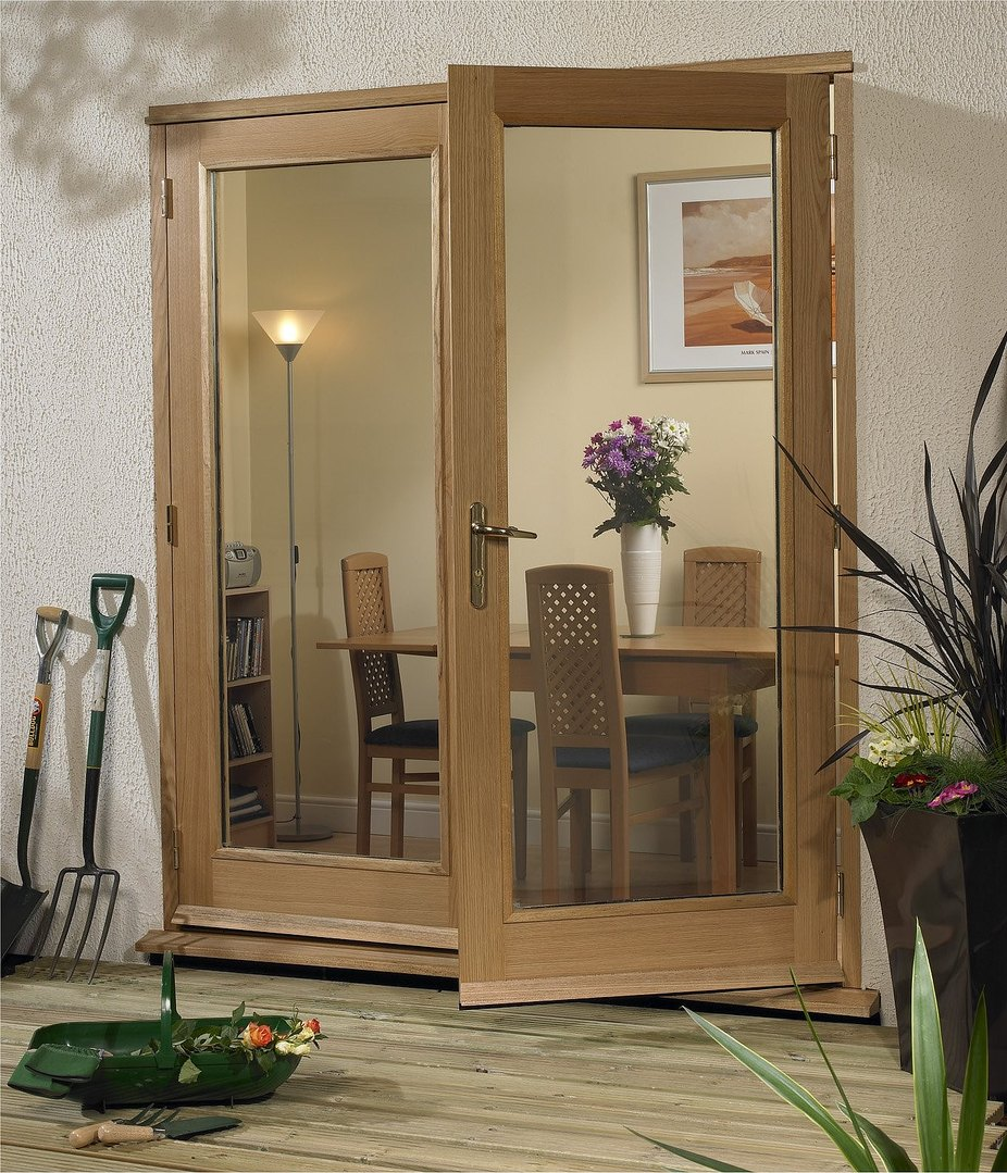 Xl la porte hardwood external french doors for Porte in french