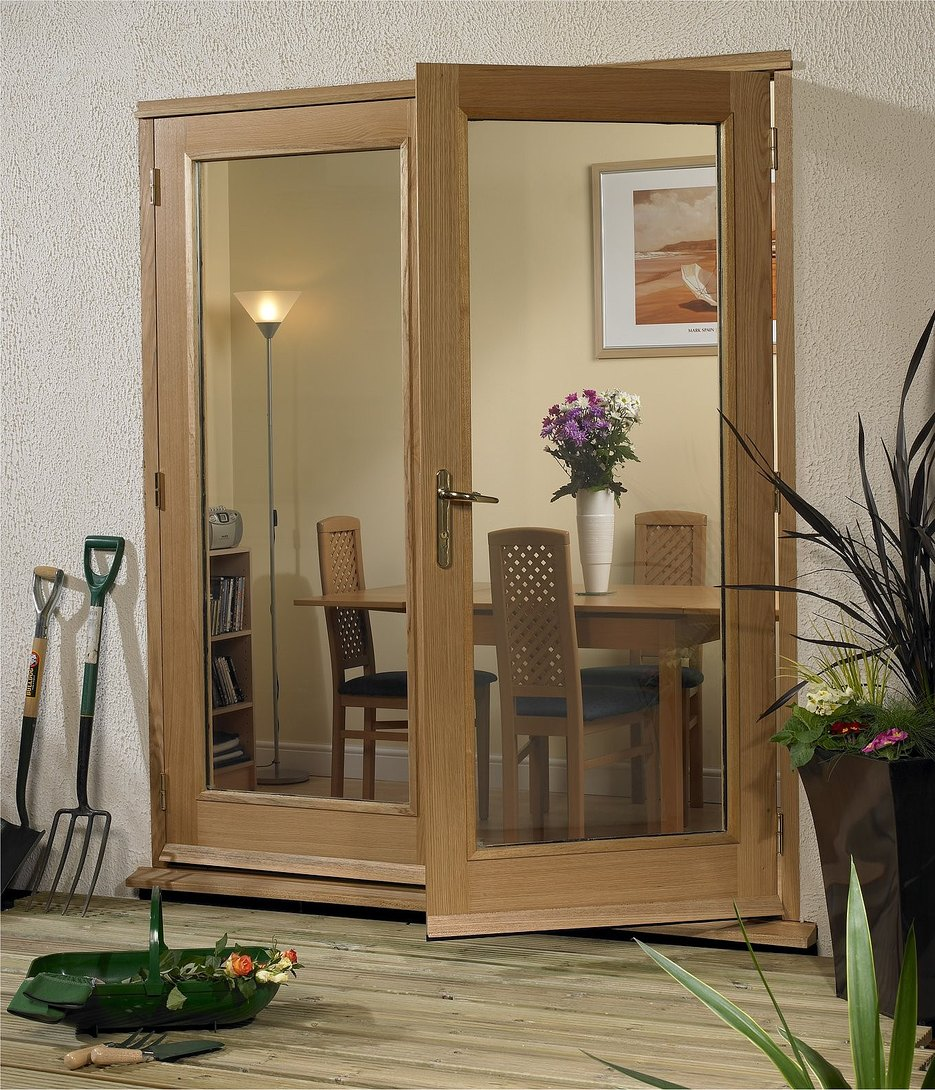 Xl la porte oak external french doors for Oak french doors external