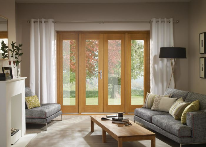 XL Oak La Porte French Doors with Sidelights
