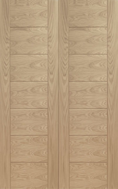 Palermo Pair Door: Flush *Unfinished Oak* 40mm Internal Pair Door - XL Doors