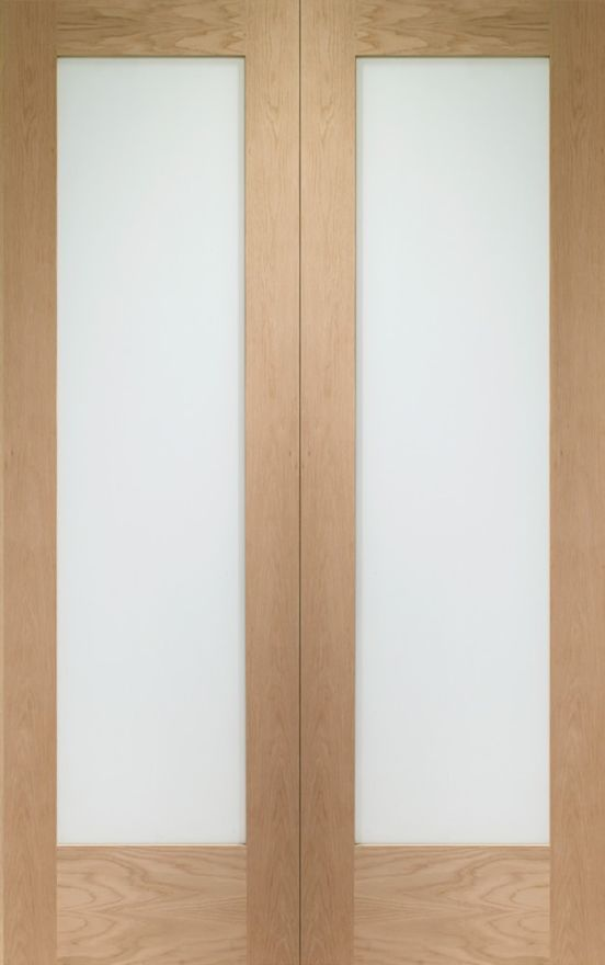 Pattern 10 Glazed Oak Pair Doors