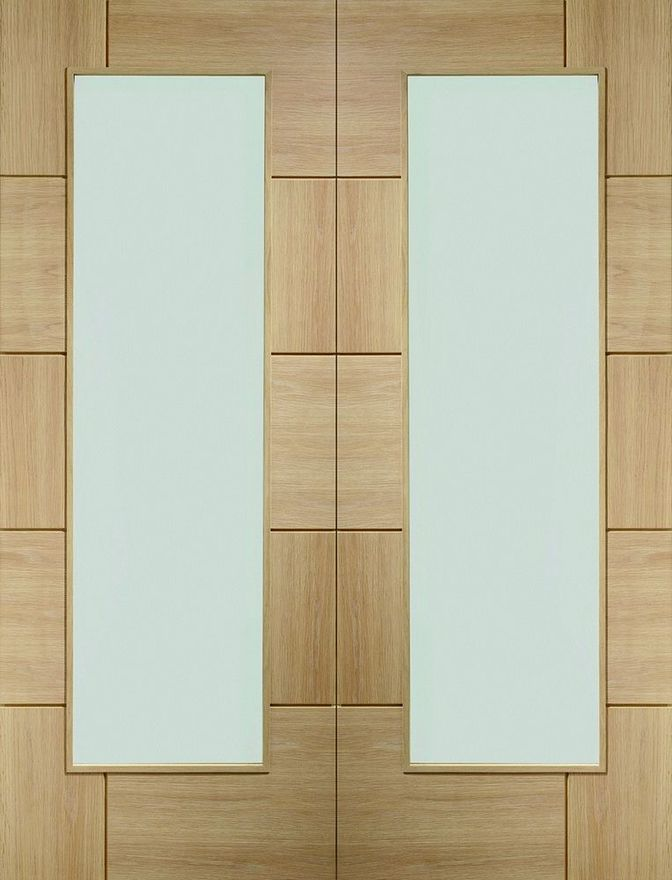 Ravenna Glazed Unfinished Oak Pair Doors