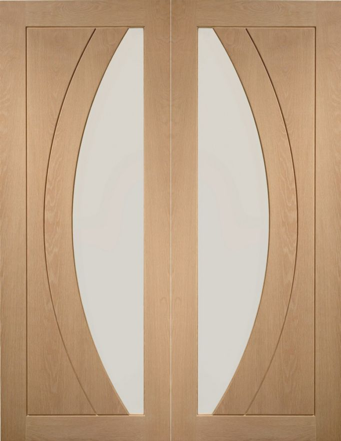 Salerno Glazed Oak Pair Doors