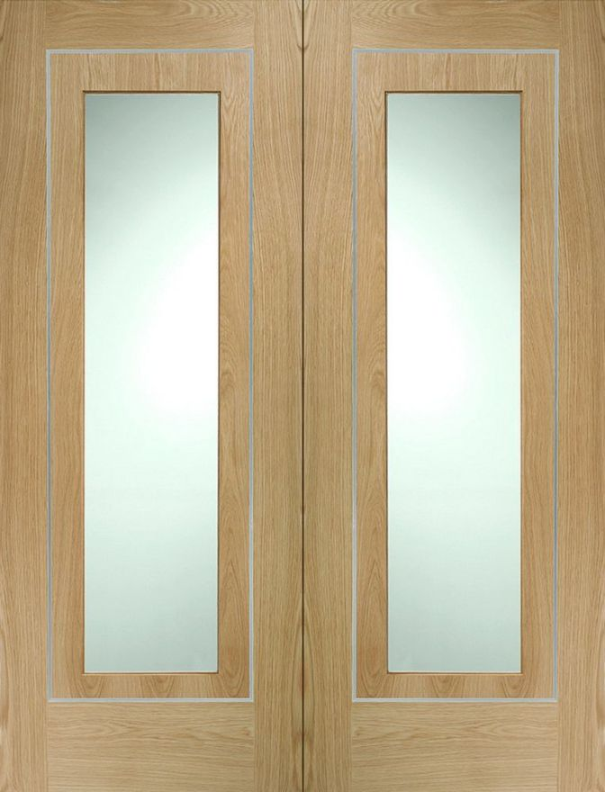 Varese Glazed Oak Pair Doors