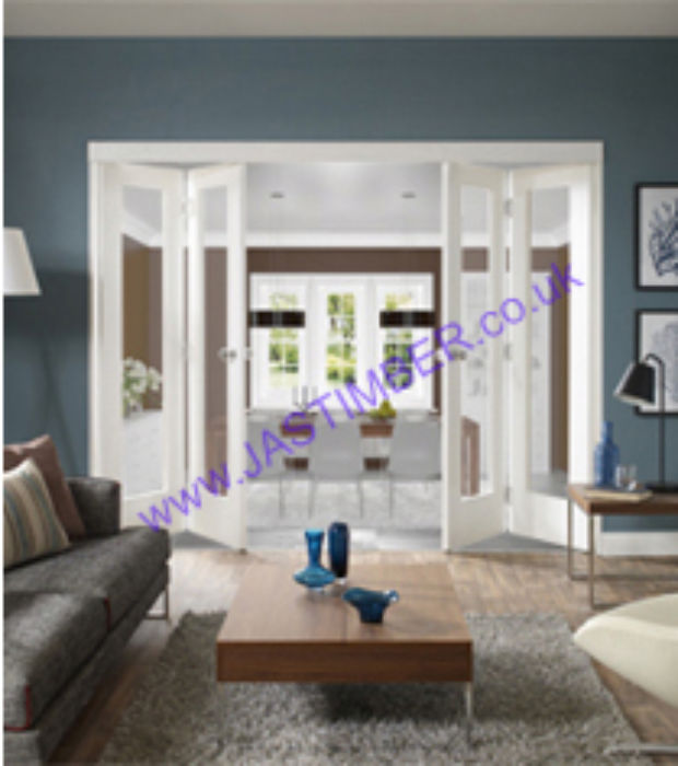 XL White Glazed FreeFold Doors