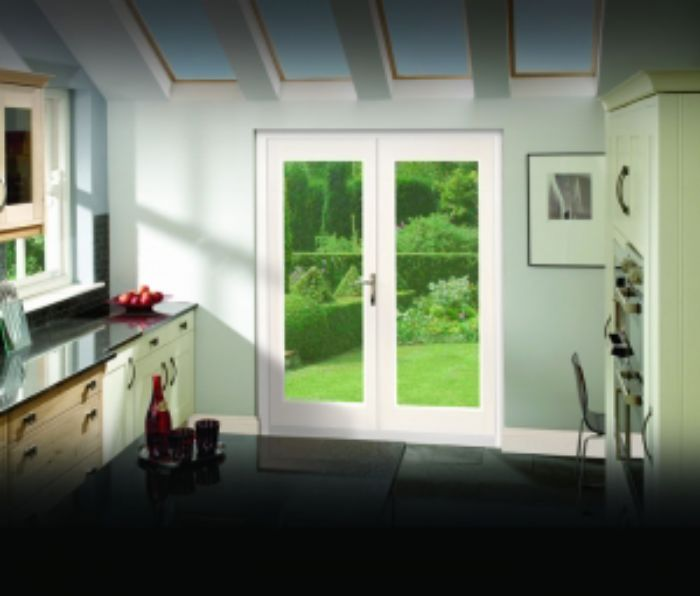 White La Porte External French Pair Doors