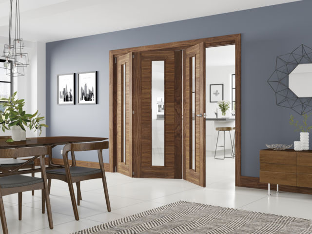 Deanta Fold® Walnut Internal Door Frame System - Deanta Doors®