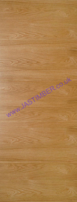 Deanta Augusta Flush Oak Internal Door