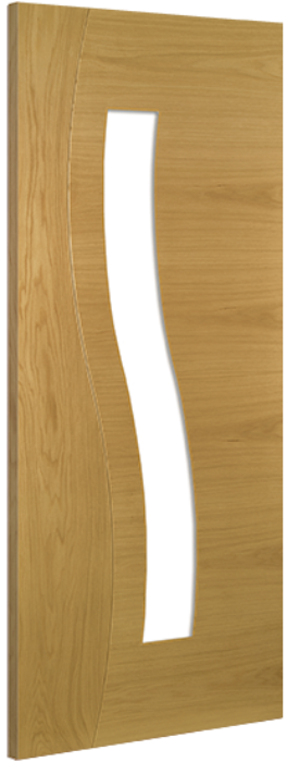 Deanta Cadiz Glazed Oak Door
