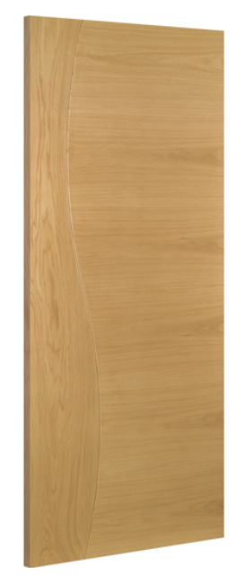 Cadiz Fire Door: FD30 Flush *Pre-Finished Oak* 45mm Internal 30min. Firecheck - Deanta Doors®