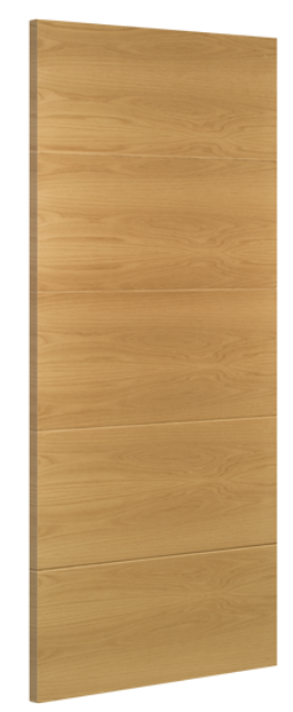 Augusta Fire Door: FD30 Flush *Pre-Finished Oak* 45mm Internal Half-Hour Firecheck - Deanta Fire Doors®