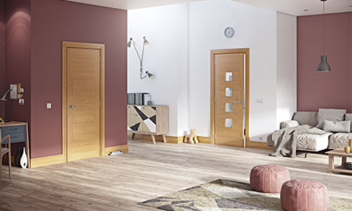 Deanta Solid-Core Int. Oak Door at JAS