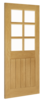 Ely 6-Light Glazed Oak Internal Door