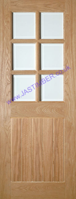 Deanta Ely Glazed Oak Internal Door