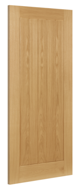 ELY FIRE DOOR: FD30 T&G effect *Unfinished OAK* 45mm Internal Fire Door - Deanta Doors