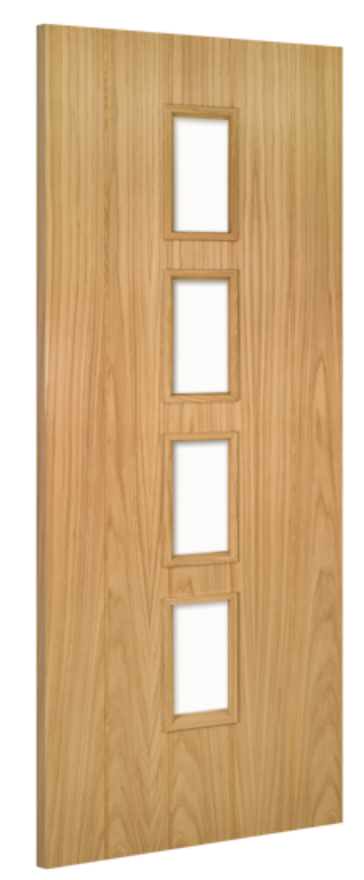 Galway 4-light Unglazed Oak Internal Door