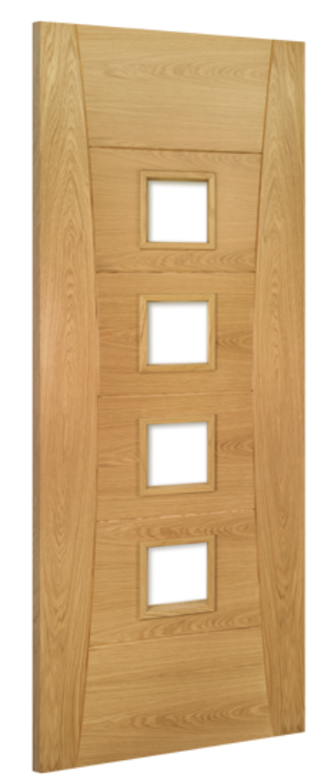 Pamplona 4-light Glazed Oak Internal Door