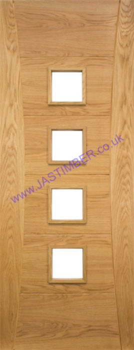 Deanta Pamplona Glazed Oak Internal Door