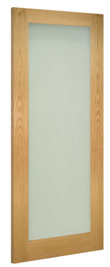 Walden 1-light Frosted Glazed Oak Internal Door