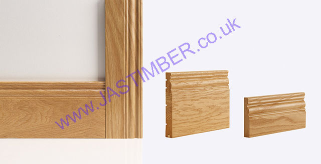 Oak Georgian Skirting & Architrave (Skirtings sold in Packs of 5) - Deanta Door Collection