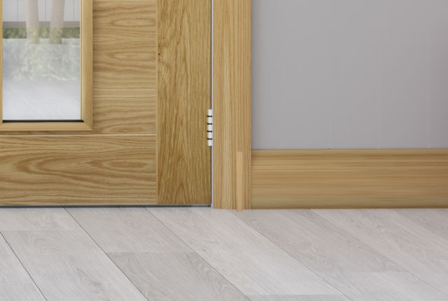 Oak Half Splayed Skirting & Architrave (Skirtings sold in Packs of 4) - Deanta Door Collection