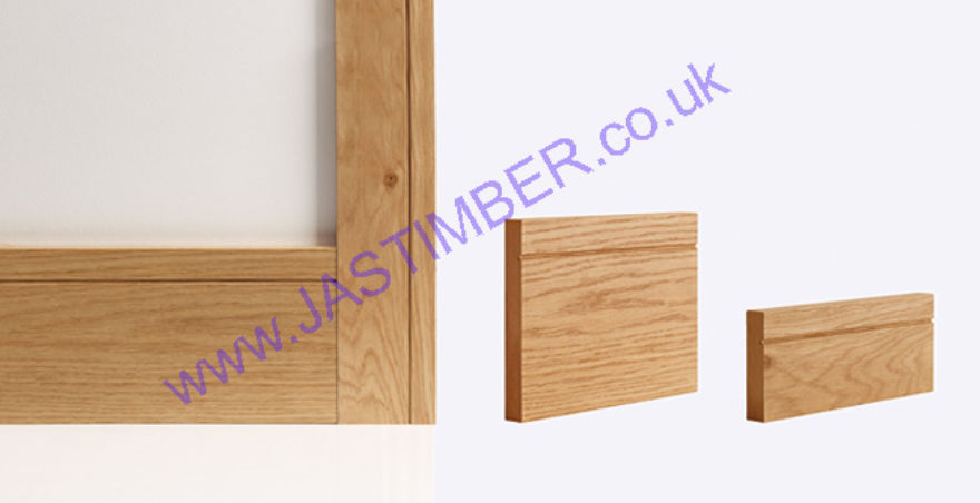 Deanta Oak Shaker Door Frame Skirting & Architraves