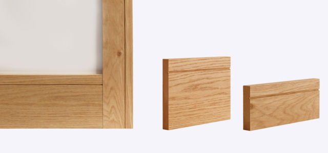 Oak Shaker Skirting & Architrave (Skirtings sold in Packs of 4) - Deanta Door Collection